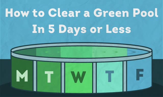 How to clear a green pool in 5 days or less for Swimming in pool after shocking