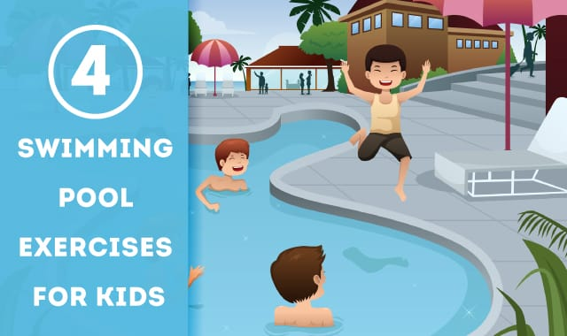 Swimming pool exercises for kids