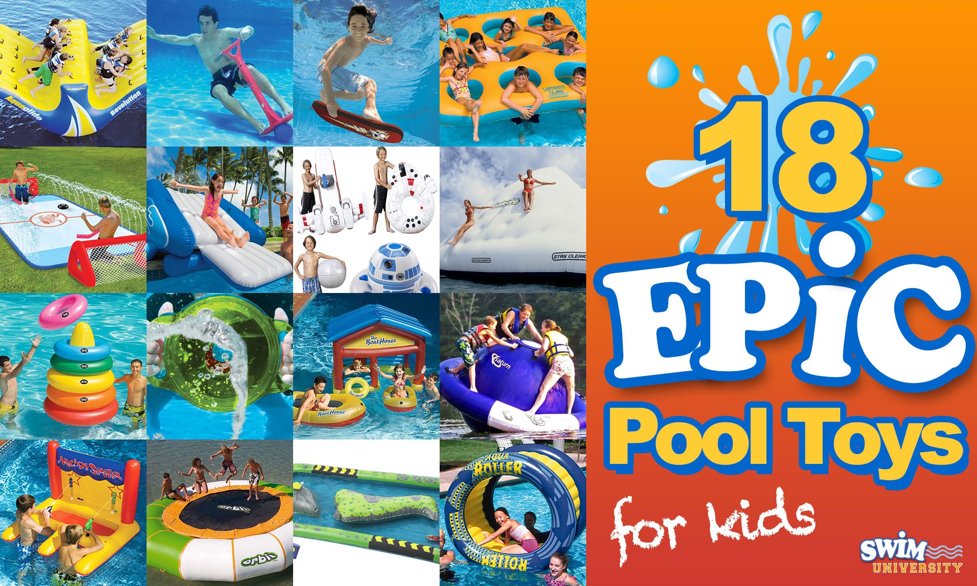 18 EPIC Pool Toys for Kids