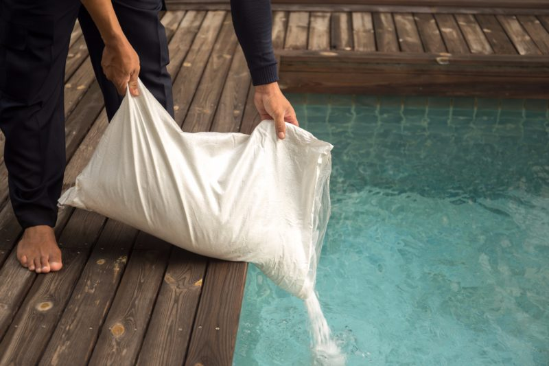 Balanced salt levels are essential to chlorine production to keep your salt water pool clean.