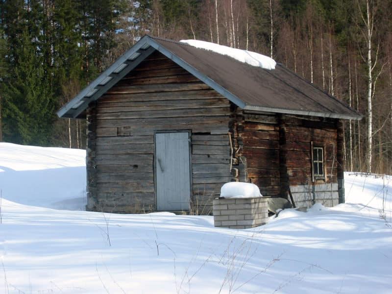 Smoke sauna in Enonkoski, Finland