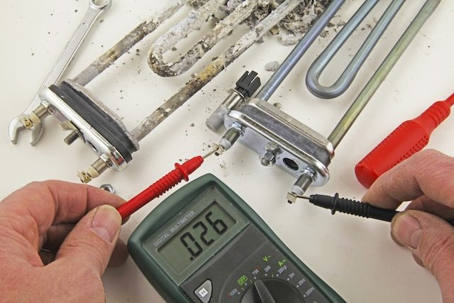heating-element-corrosion-multimeter