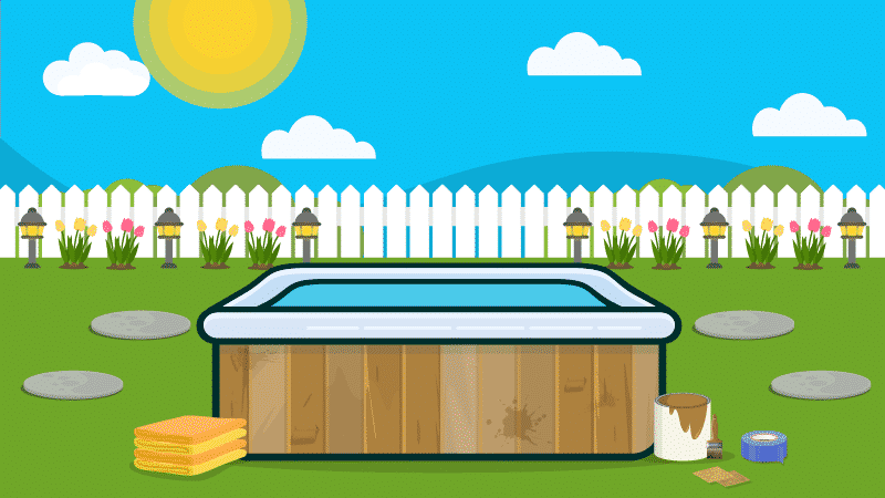 How to Paint or Stain A Wooden Hot Tub Cabinet