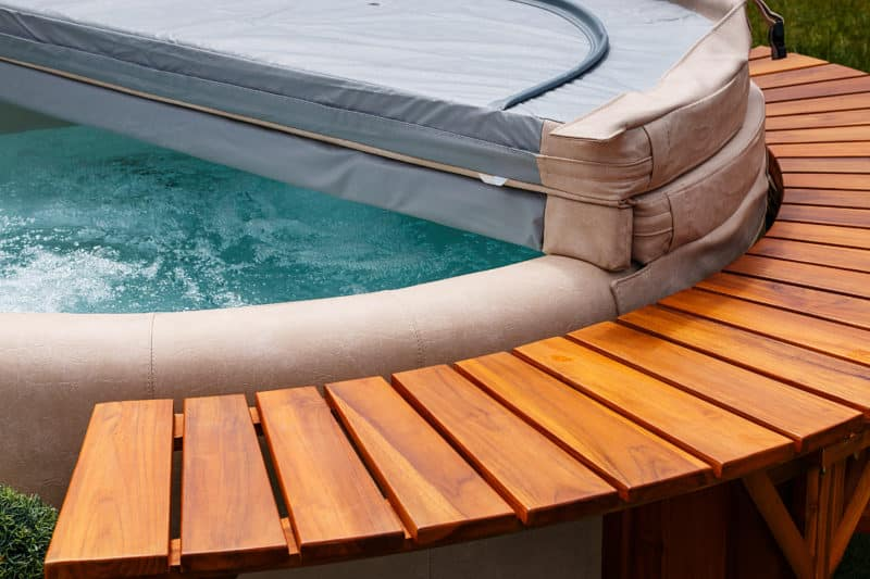 Folded Hot Tub Cover