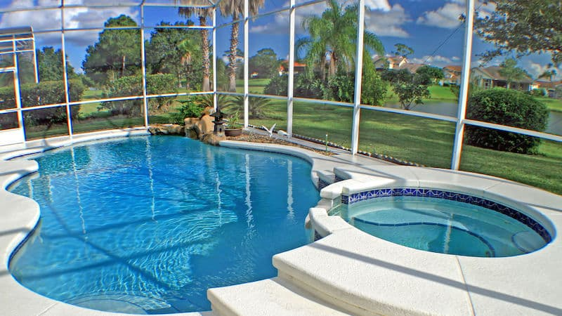 Pool Landscaping Enclosure