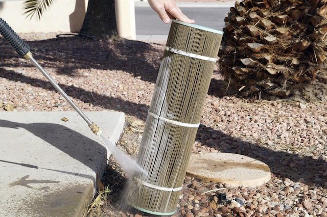 Washing a Pool Filter Cartridge