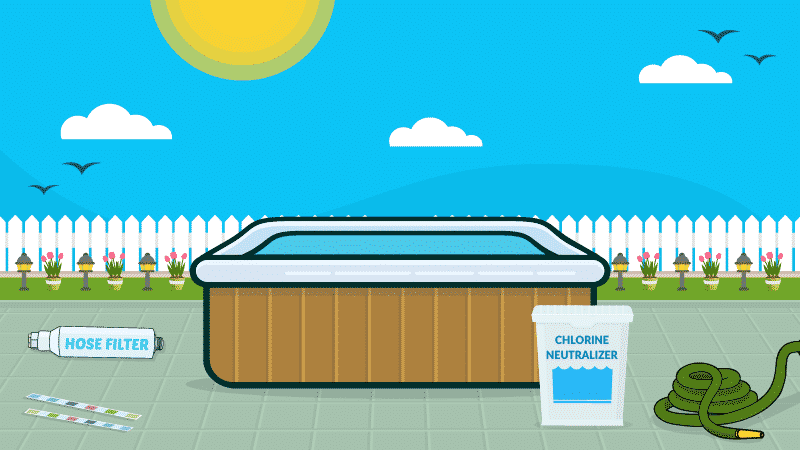 How to Lower Bromine or Chlorine Levels in a Hot Tub
